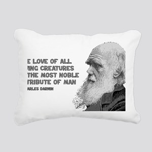 darwin_pic_quote_text Rectangular Canvas Pillow