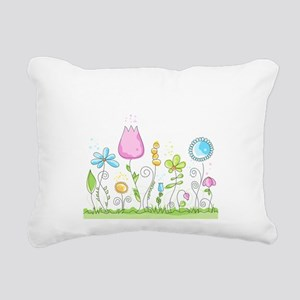 Spring Flowers Rectangular Canvas Pillow