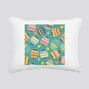 Easter Eggs Rectangular Canvas Pillow