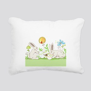 Easter Bunny Rectangular Canvas Pillow