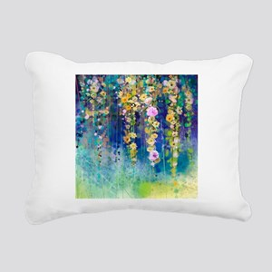 Floral Painting Rectangular Canvas Pillow