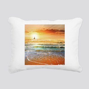 Tropical Beach Rectangular Canvas Pillow