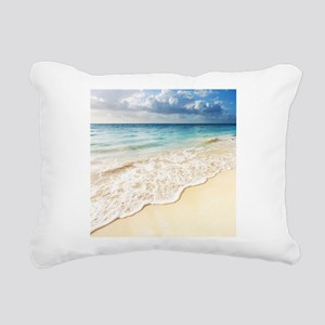 Beautiful Beach Rectangular Canvas Pillow