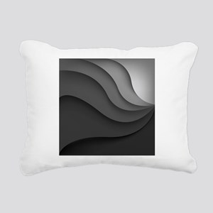 Black Abstract Rectangular Canvas Pillow
