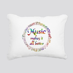 Music Makes it Better Rectangular Canvas Pillow