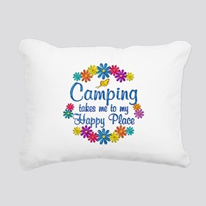 Camping Happy Place Rectangular Canvas Pillow