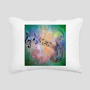 Abstract Music Rectangular Canvas Pillow