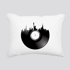 New York City Vinyl Reco Rectangular Canvas Pillow
