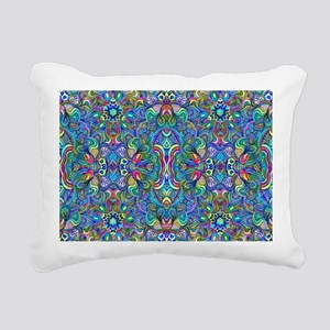 Colorful Abstract Psyche Rectangular Canvas Pillow