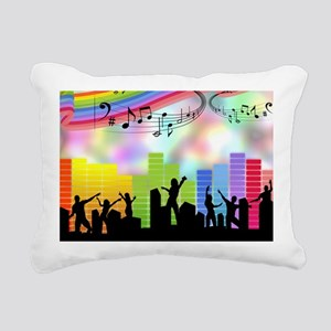 Colorful Musical Theme Rectangular Canvas Pillow