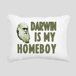 Darwin is my homeboy Rectangular Canvas Pillow