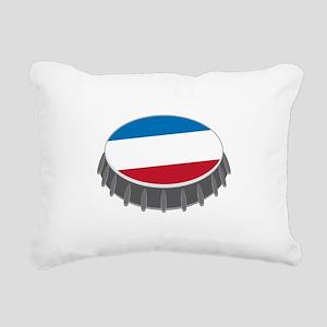 Bottle Cap Rectangular Canvas Pillow