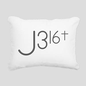 J316Typo Rectangular Canvas Pillow