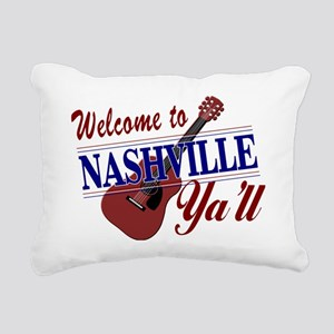 Welcome to Nashville Ya' Rectangular Canvas Pillow