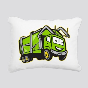 Rubbish Truck Rectangular Canvas Pillow