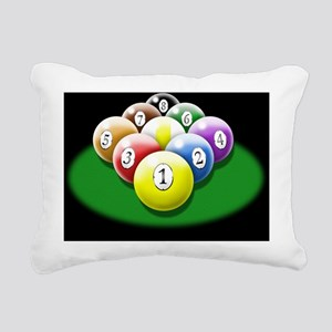 nine ball rack 6x4_card Rectangular Canvas Pillow