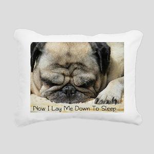 Pug Praying Rectangular Canvas Pillow