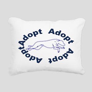 adopt blue v2.0 Rectangular Canvas Pillow