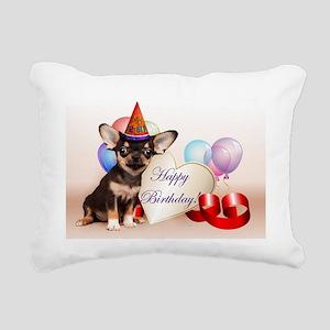 Happy Birthday Chihuahua dog Rectangular Canvas Pi