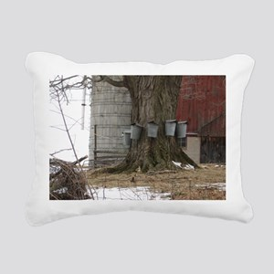 Maple Sap Time-large fra Rectangular Canvas Pillow