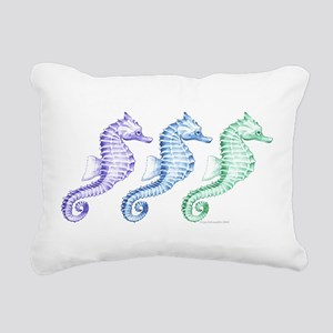 seahorse spectrum Rectangular Canvas Pillow
