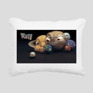 """Poor Pluto"" Rectangular Canvas Pillow"