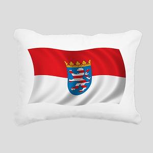 Wavy Hesse Flag Rectangular Canvas Pillow