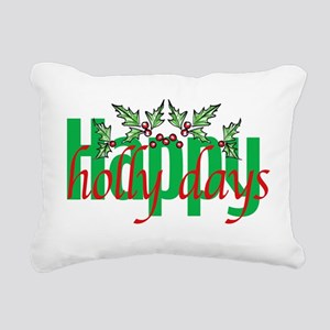 Happy Holly Days Rectangular Canvas Pillow