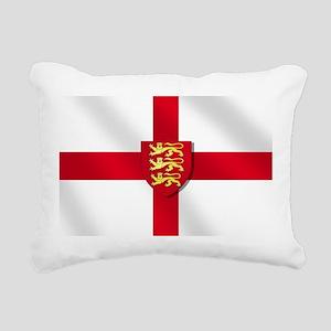 England 3 Lions Flag Rectangular Canvas Pillow