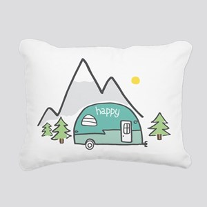 Happy Camper Rectangular Canvas Pillow