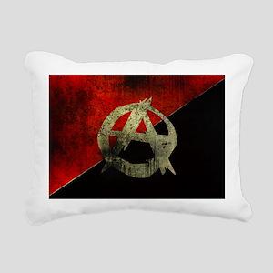 anarchy-symbol-flag Rectangular Canvas Pillow