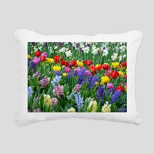 Spring garden flowers Rectangular Canvas Pillow