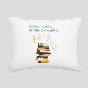 Books and music Rectangular Canvas Pillow