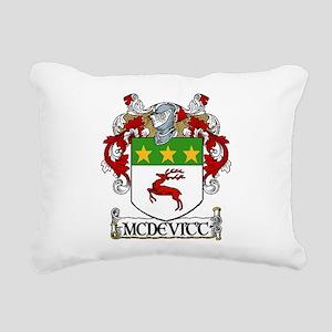 McDevitt Coat of Arms Rectangular Canvas Pillow