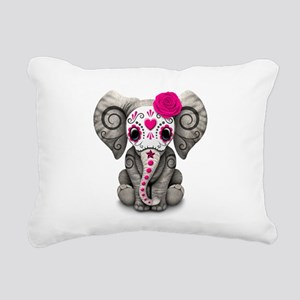 Pink Day of the Dead Sugar Skull Baby Elephant Rec
