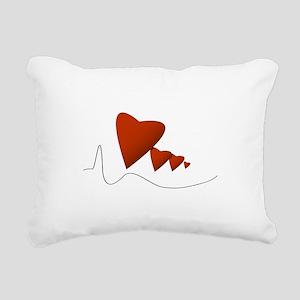 Heartbeats - Rectangular Canvas Pillow