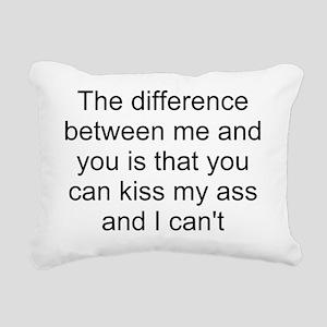 kiss my ass 1 Rectangular Canvas Pillow