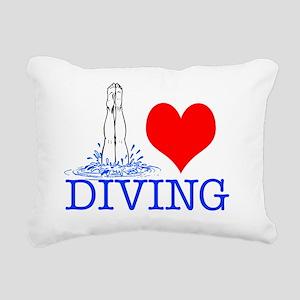 DIVINGsq Rectangular Canvas Pillow