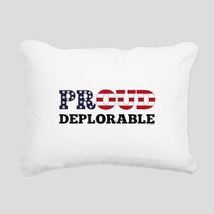 Proud Deplorable Rectangular Canvas Pillow