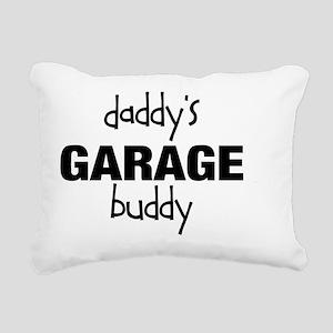 Daddys Garage Buddy Rectangular Canvas Pillow