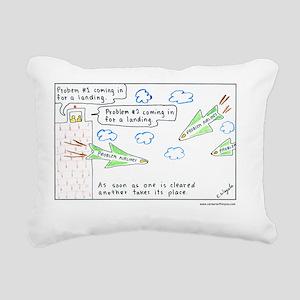 6-Problems10x10-Text1 Rectangular Canvas Pillow