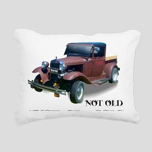 New Not Old Rectangular Canvas Pillow