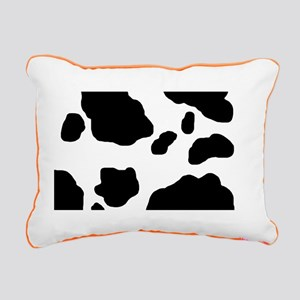 Cow Print Rectangular Canvas Pillow