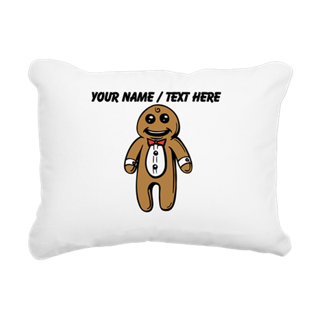 Personalized Gingerbread Man Rectangular Canvas Pi