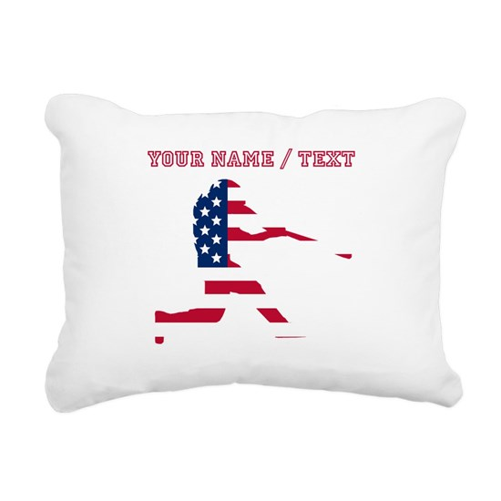 Custom Baseball Batter American Flag
