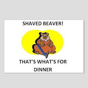 Shaved beaver eating