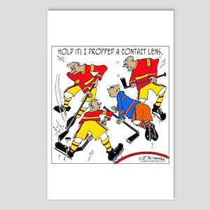 Funny Hockey Cartoons Postcards Cafepress