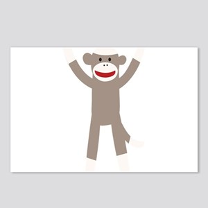 Excited Sock Monkey Postcards (Package of 8)