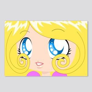 Blond Cupcake Princess In Postcards (Package of 8)