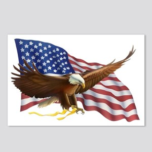 American Flag and Eagle Postcards (Package of 8)